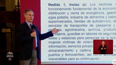 Photo of Precisa secretaría de Salud qué actividades esenciales no se suspenden en el país