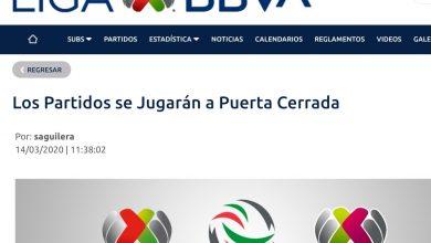Photo of El resto de la jornada 10 de la LigaMX se jugará sin público.