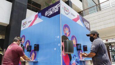 Photo of Instalan lavabos para sanitización en zona de bancos y centro comercial de Corregidora
